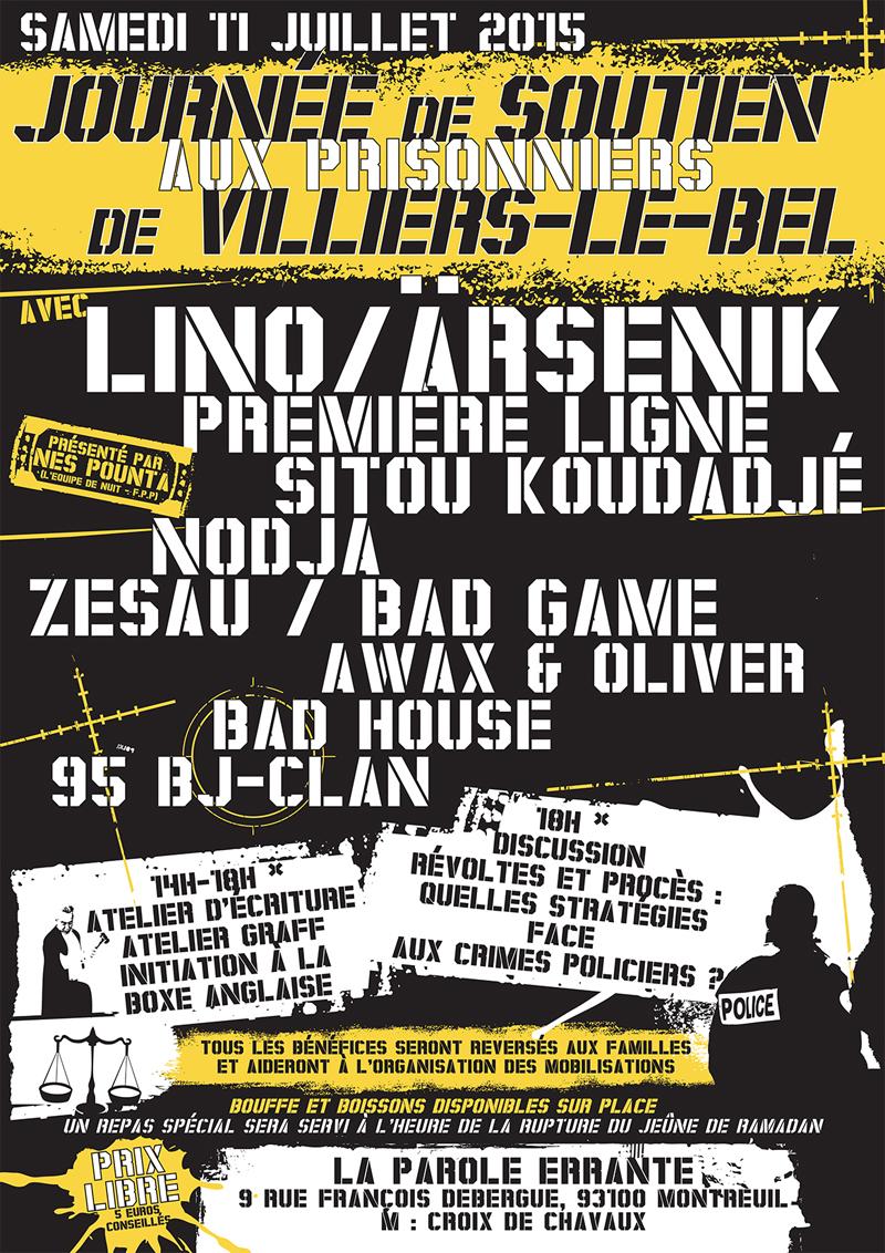 Concert à Montreuil le 11 juillet 2015