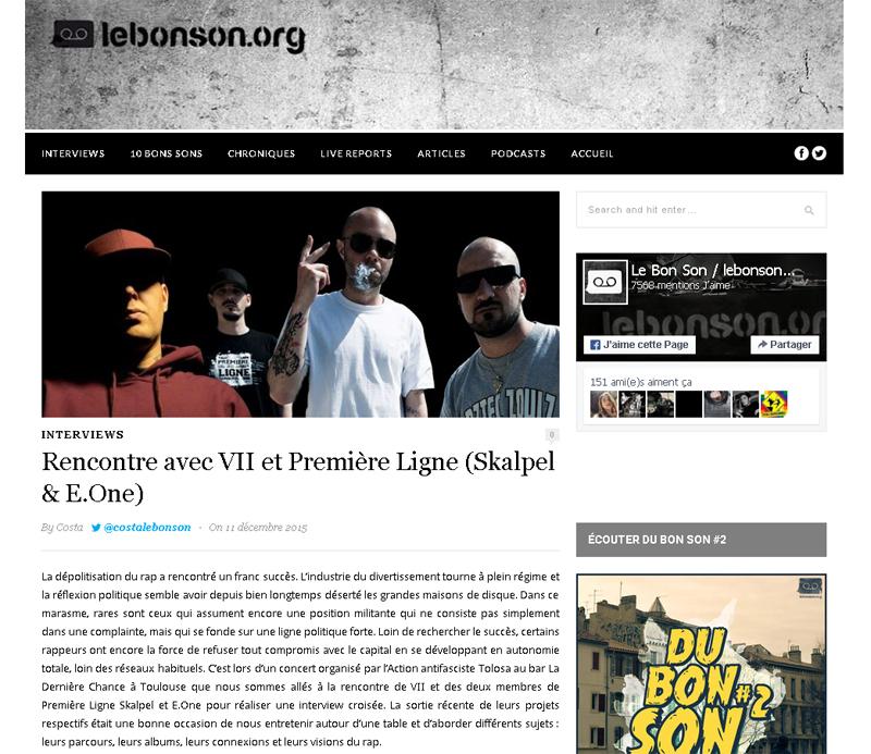 Interview - Lebonson (Décembre 2015)