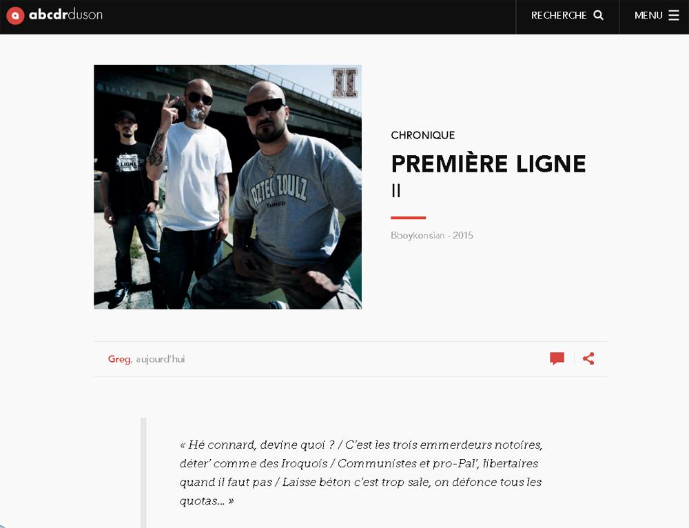 Chronique de l'album II - Abcdrduson (Juillet 2016)