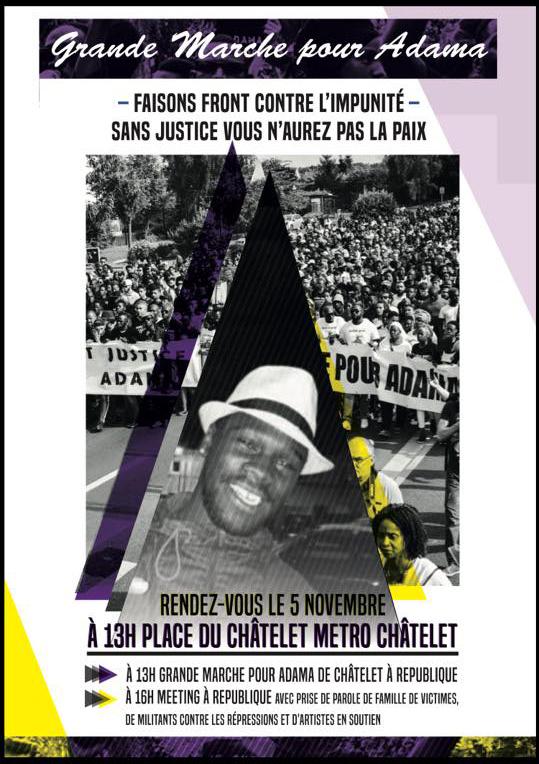 Grande marche pour Adama Traoré le 05 novembre 2016 à Paris