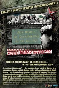 Sortie le 1er décembre du street album de Skalpel: 'Luttez!Résistez!Organisez-vous!'