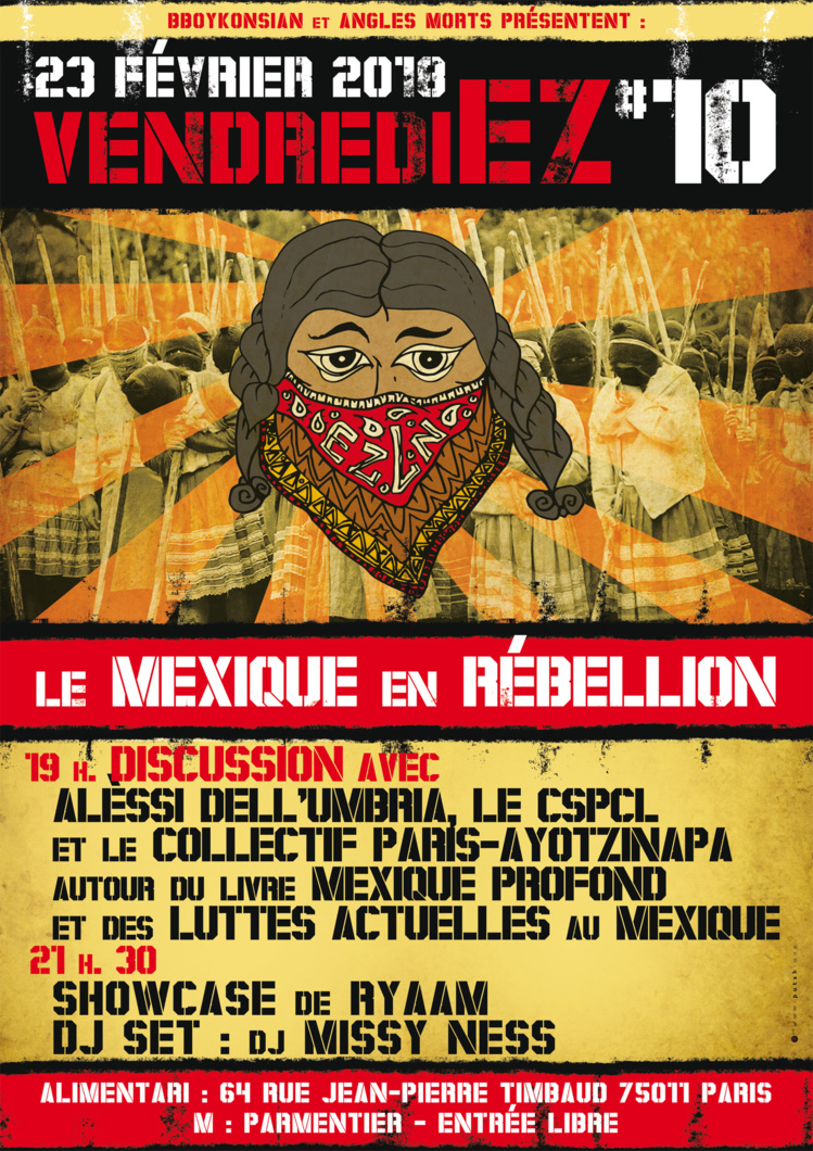 VendrediEZ #10 : Le Mexique en rébellion le 23 février 2018 à Paris