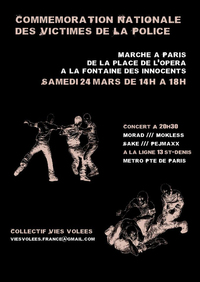 Commémoration nationale des victimes de la police le 24 mars 2012 à Paris