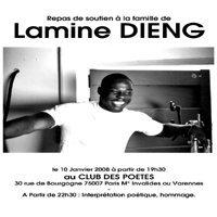 Repas de soutien et manifestation pour Lamine Dieng à Paris