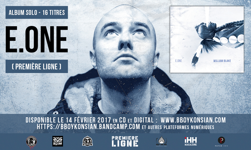 "L'album ""William Blake"" de E.One (Première Ligne) disponible en CD & Digital"