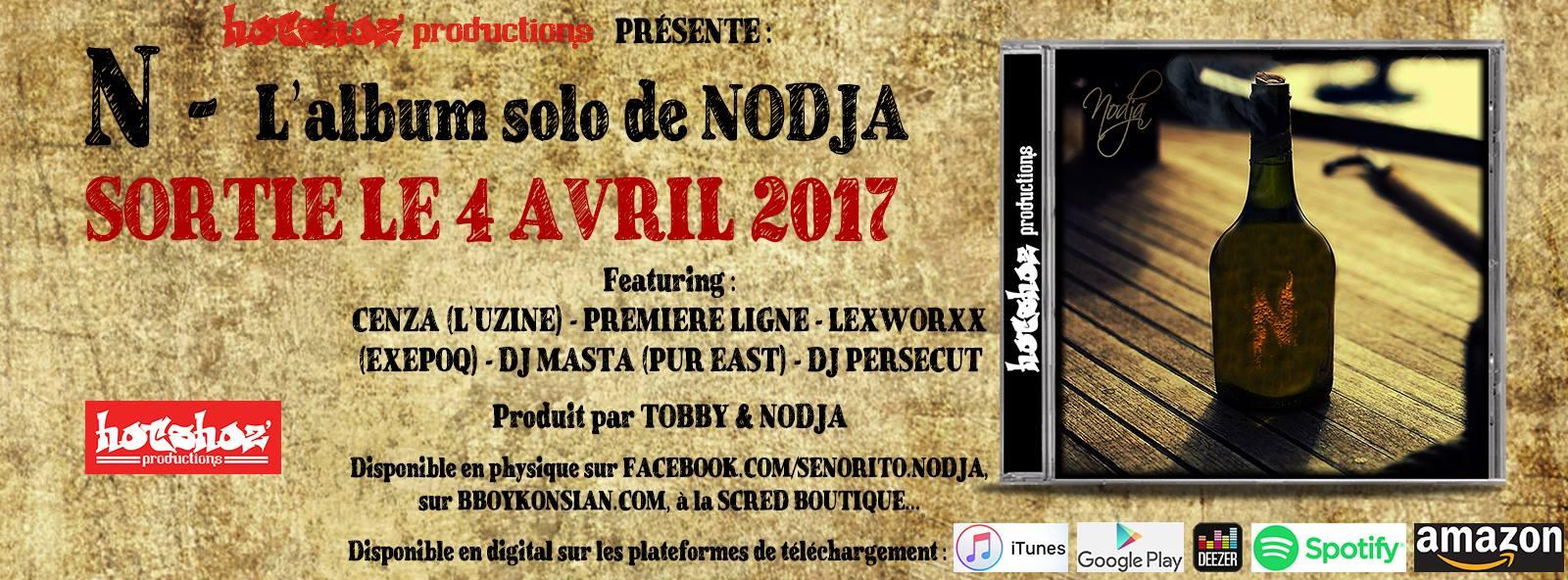 "Nouvel album de Nodja ""N"" disponible en CD et Digital"