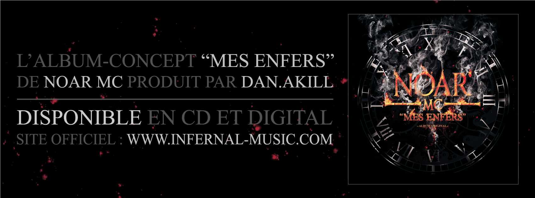"""Mes enfers"", l'album concept de Noar Mc disponible en CD & Digital"