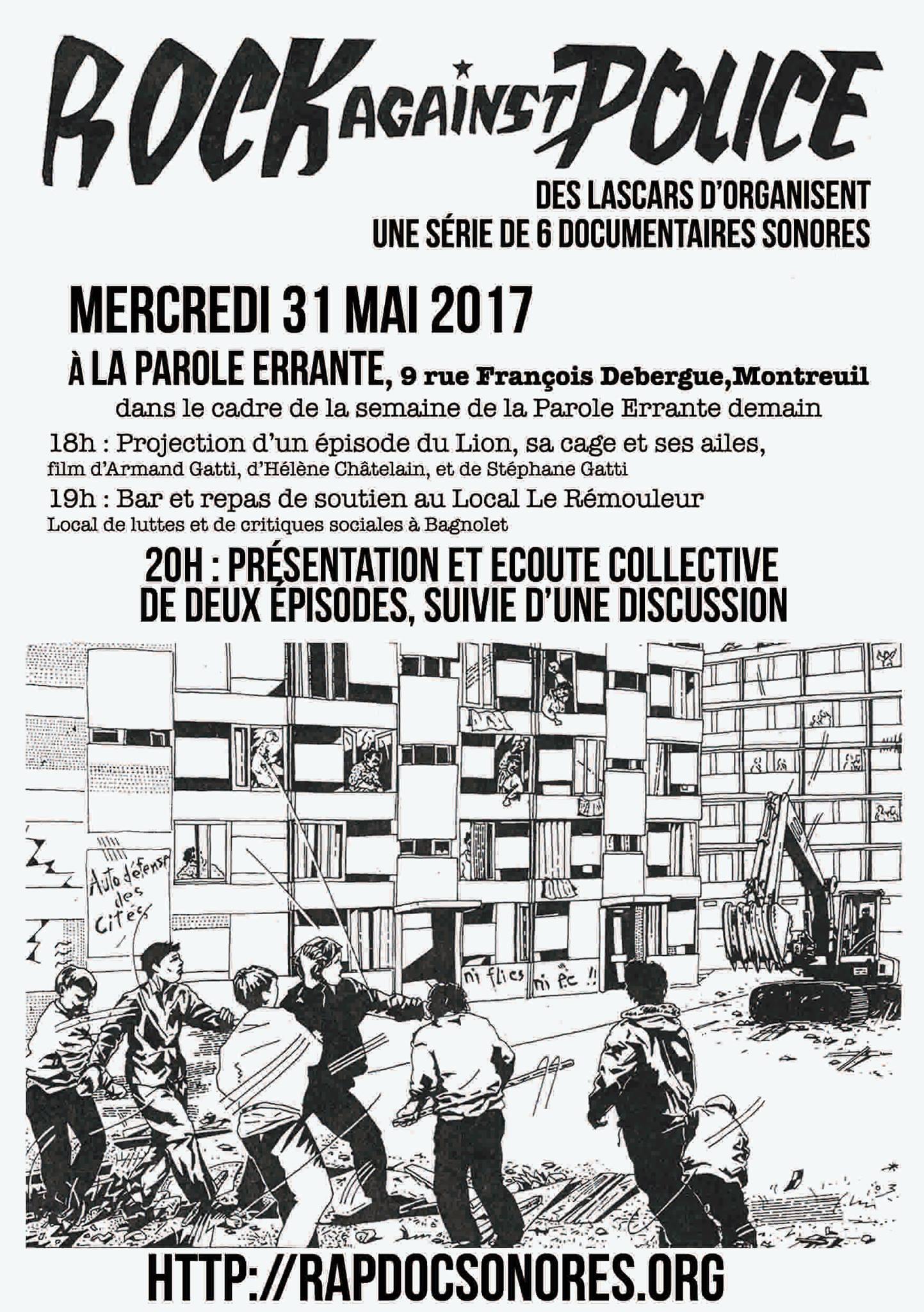 """Documentaires sonores """"Rock against police"""" en libre téléchargement"""