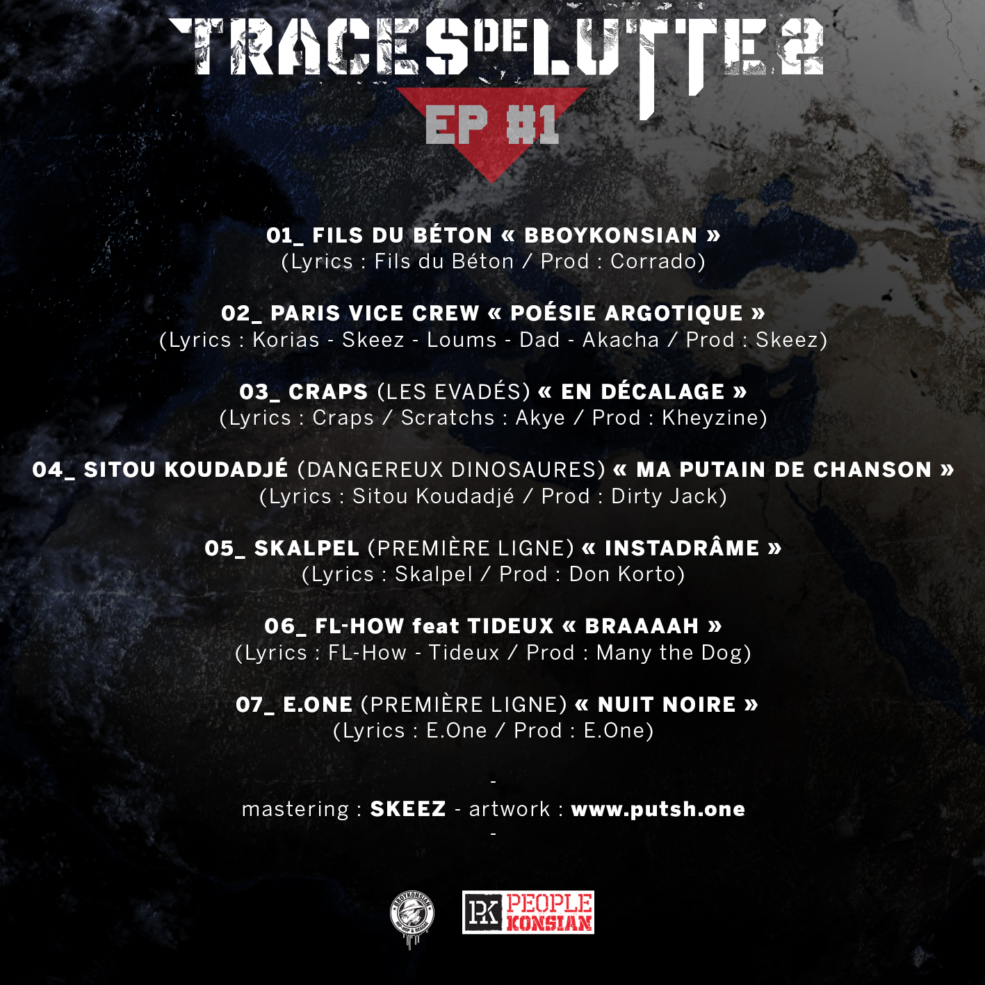 """Traces de lutte 2 - EP #1"" disponible en Digital le mardi 10 septembre 2019"