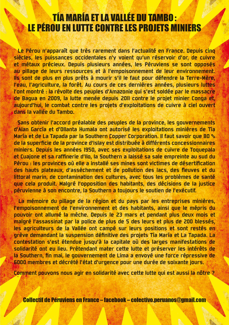 Soirée de solidarité 'Tia Maria no va' le 03 juillet à Saint-Denis