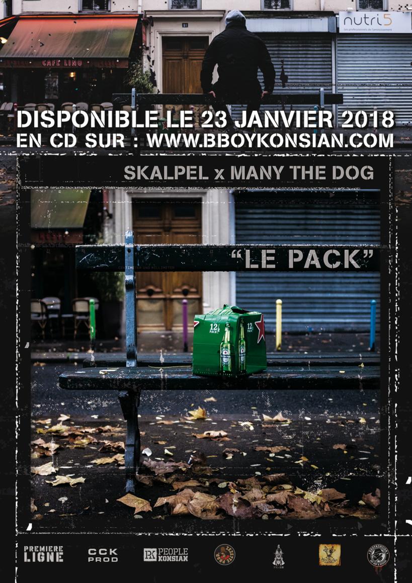 """""""Le pack"""" de Skalpel x Many the Dog disponible en CD & Digital"""