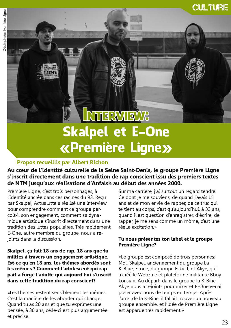 Interview - Actualutte N°34 (Mars 2013)