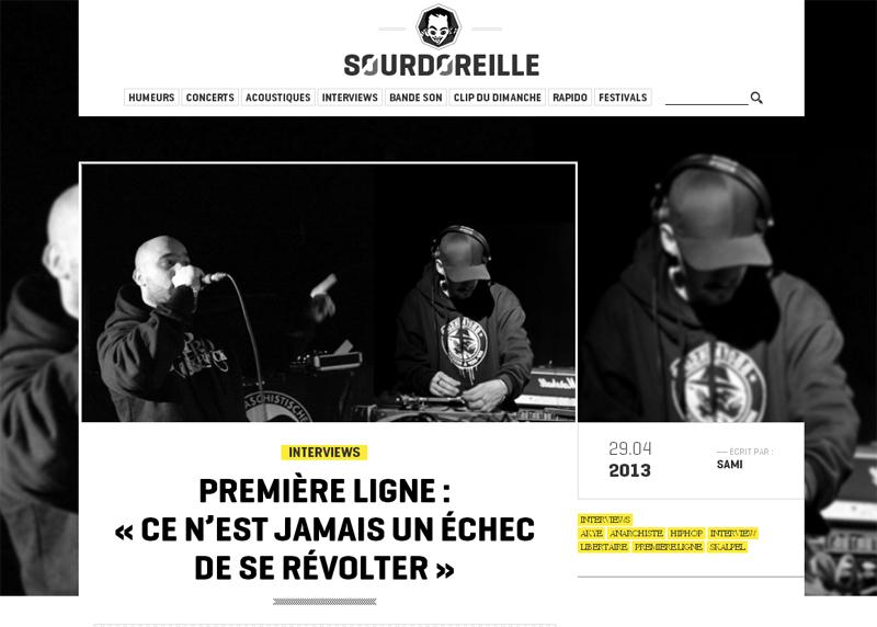 Interview - Sourdoreille (Avril 2013)